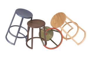 Still life Composizione sedie sgabelli 1